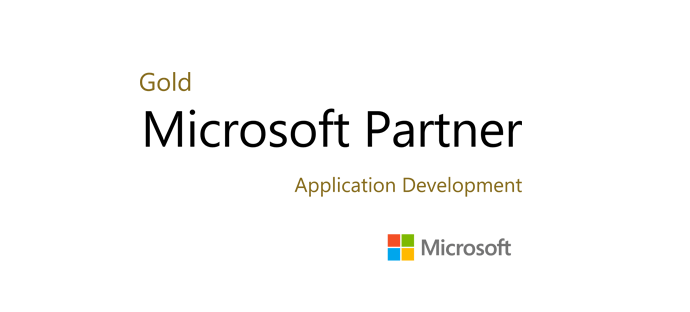 logo microsoft-partner with gold text