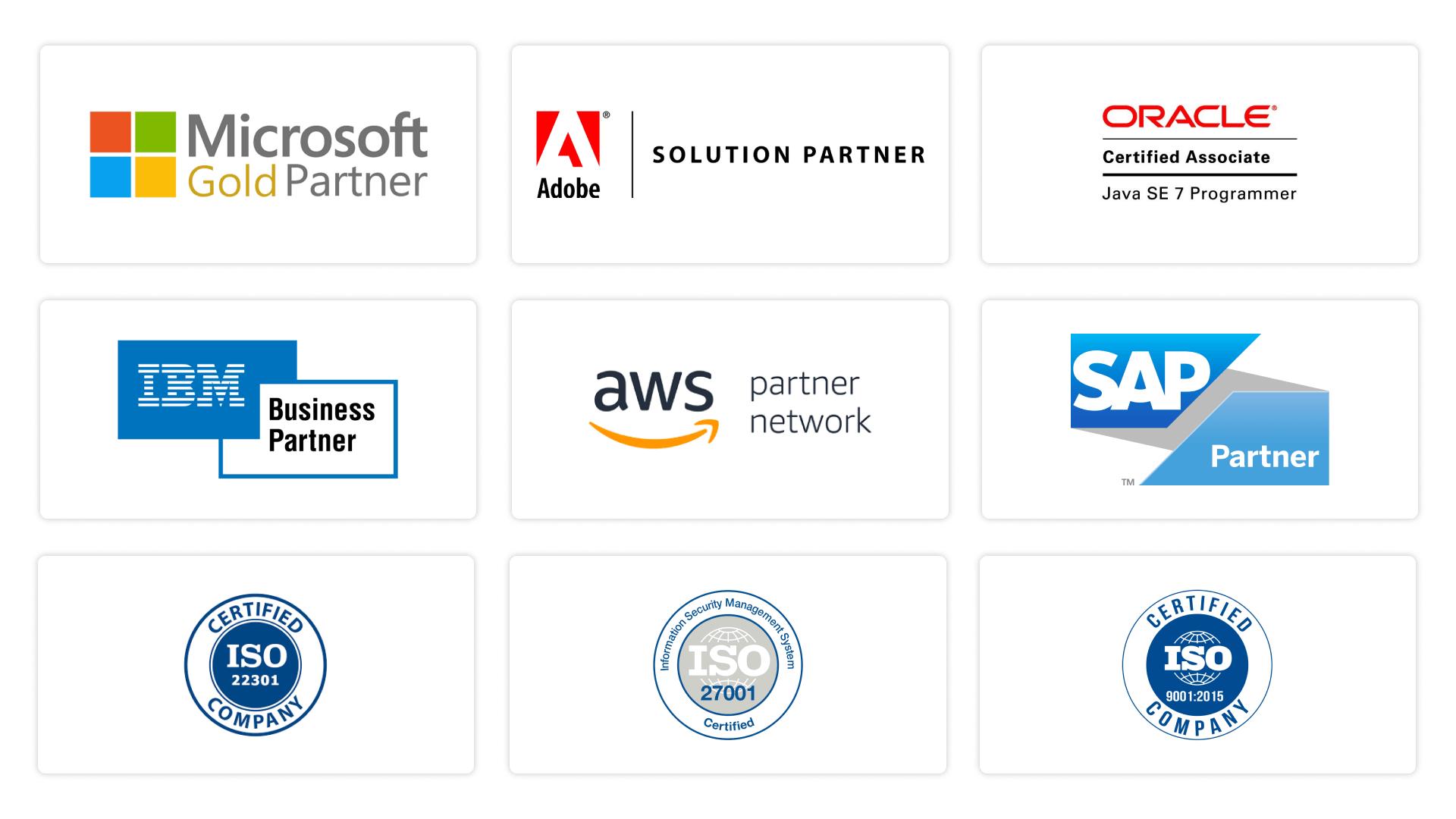 Popular certifications in IT industry