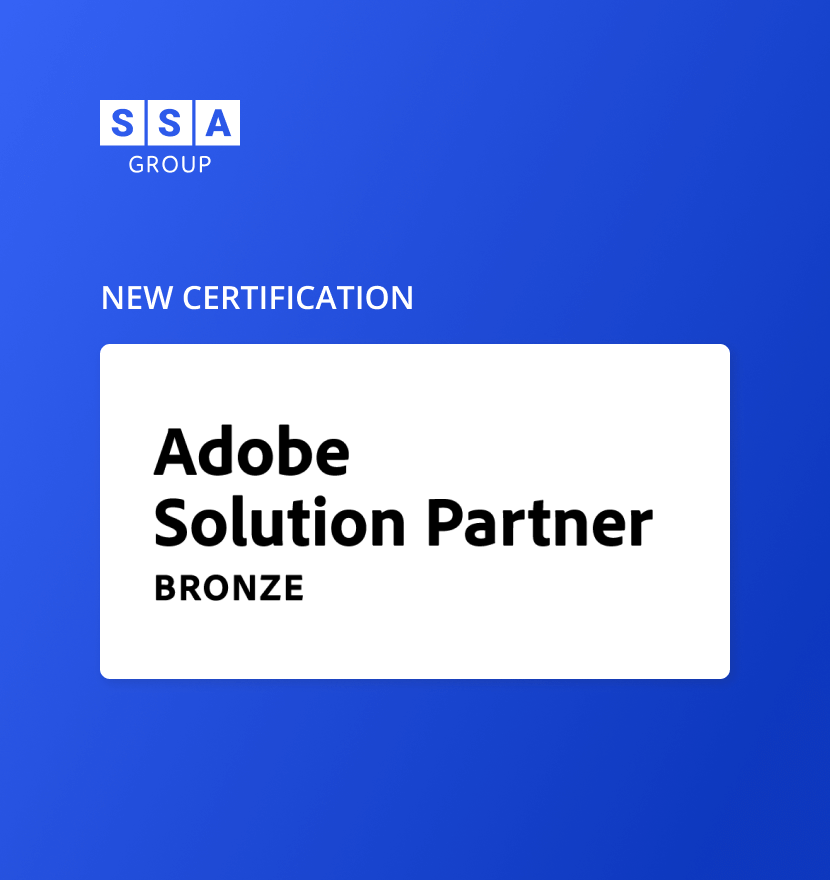 SSA Group has become an Adobe Bronze Partner