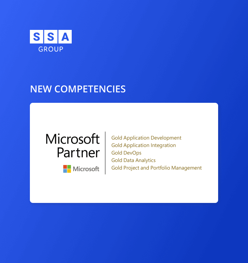 SSA Group expanded its list of Microsoft Gold Competencies