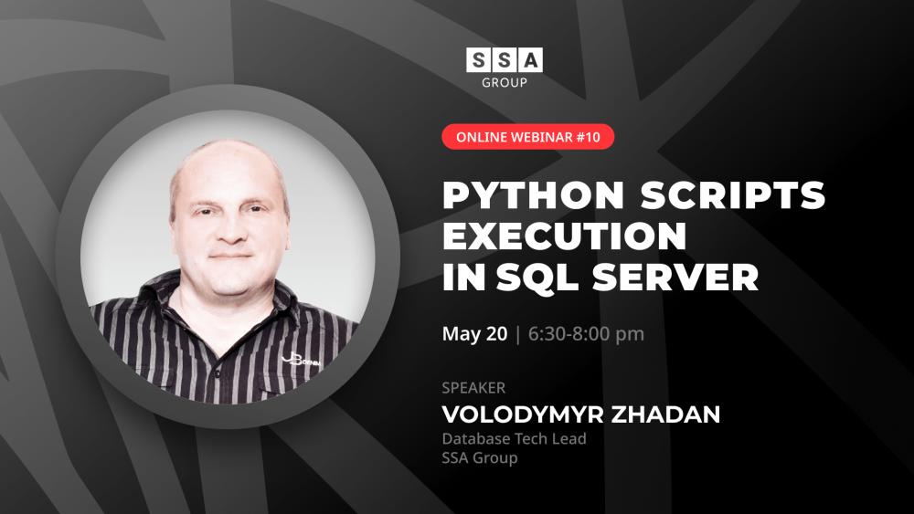 Python scripts execution in SQL Server webinar