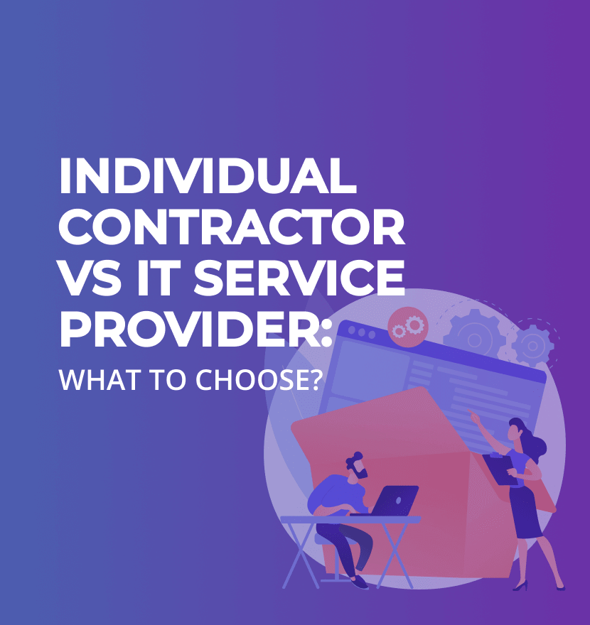 Individual Contractor vs IT Service Provider: What to Choose?
